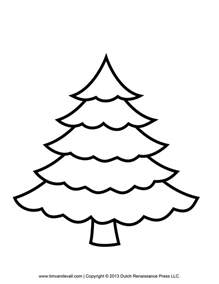 Christmas Crafts Templates Free - printable paper christmas tree template and clip art
