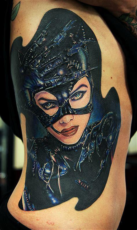 batman tattoo on ribs catwoman on ribs by tat2istcecil on deviantart