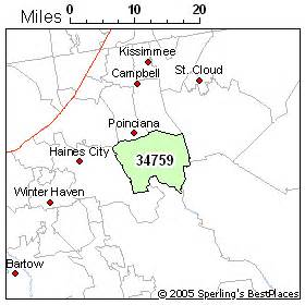 kissimmee florida zip code map best place to live in kissimmee zip 34759 florida