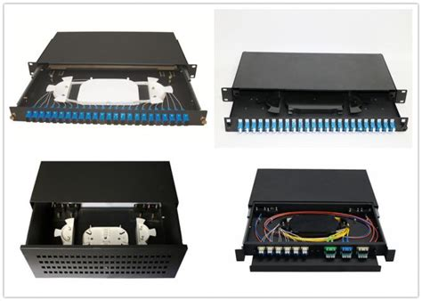 Otb Rack Kap24 Lengkap Pigtail Lc sliding 1u 24 port patch panel with drawer and 0 9mm fiber pigtail