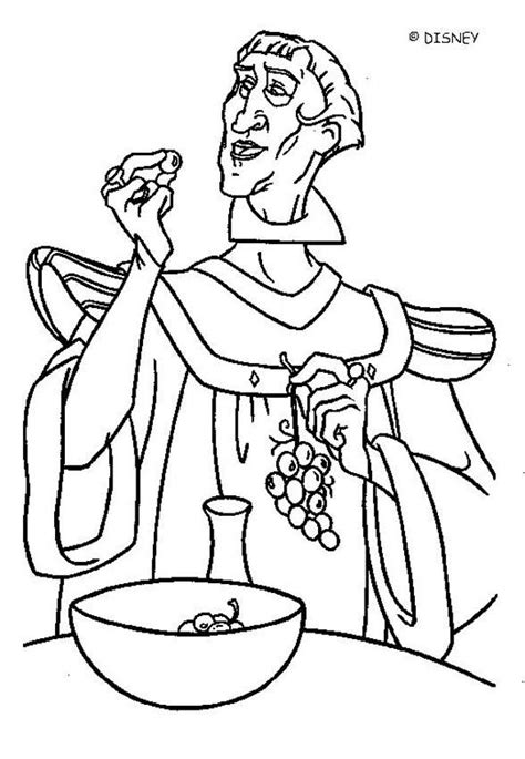 disney coloring pages hunchback notre dame frollo 1 coloring pages hellokids com