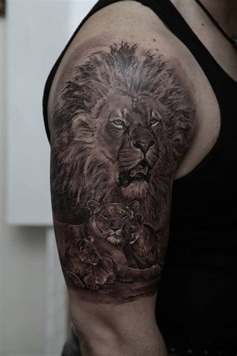 half sleeve lion family tattoo golfian com