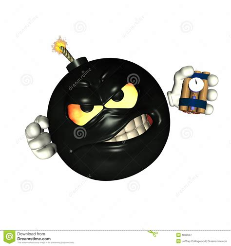 Emoticon Time Bomb 1 Royalty Free Stock Photography   Image: 1838937
