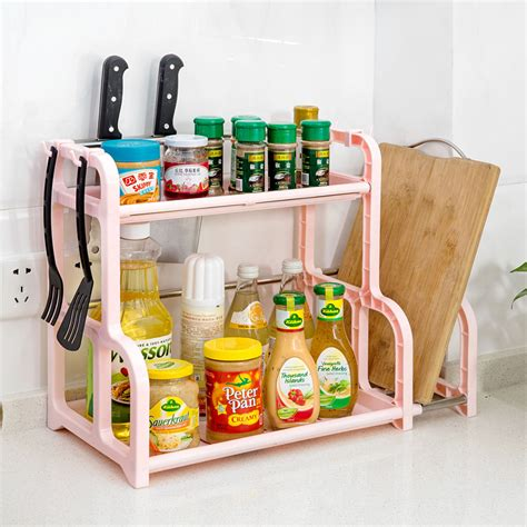 Corner Spice Shelf New Removable 2 Layer Spice Rack Organizer Wall Corner
