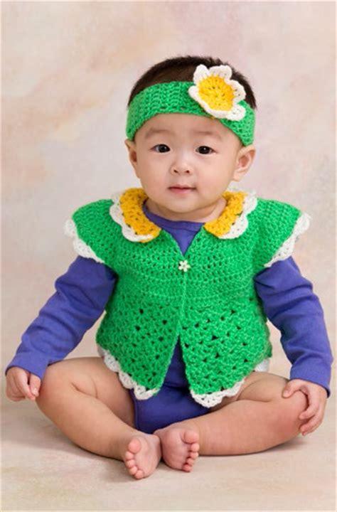 Sweater Bayi crochet gadis pekan set bayi dan kanak2