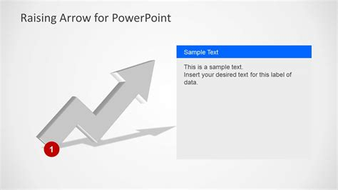 raising arrow for powerpoint slidemodel