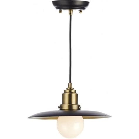 single retro style ceiling pendant light in antique brass