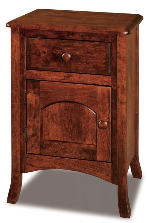 narrow nightstand with drawers 1 drawer 1 door nightstand narrow amish furniture