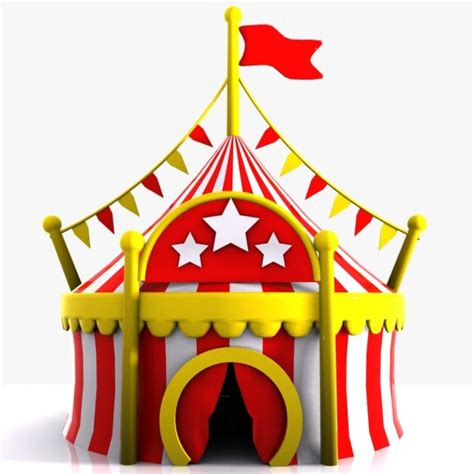 House Design Game For Free Cartoon Circus Tent 3d Model