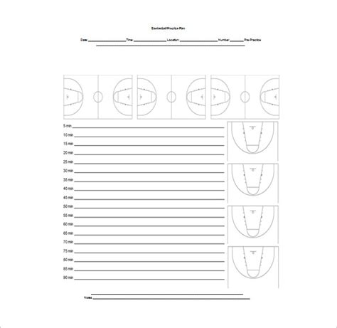 basketball practice template basketball practice plan template 3 free word pdf