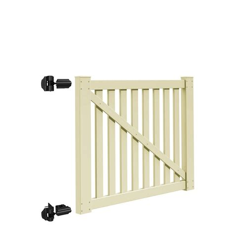 home depot gates pointed vinyl fence gates vinyl fencing fencing the home depot