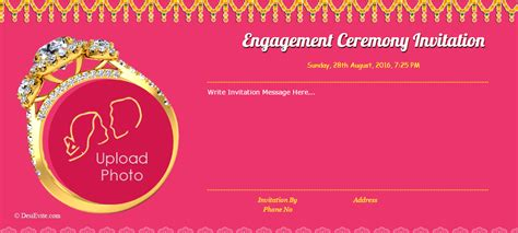 ring ceremony invitation card template free free engagement invitation card invitations