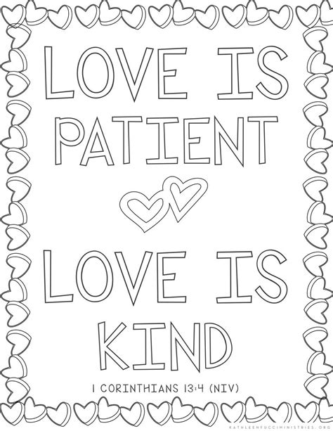 love is printable coloring pages love is patient coloring pages coloring page