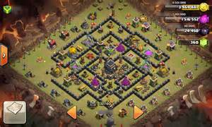 Clash of clans early th9 base for protect resources and clan wars
