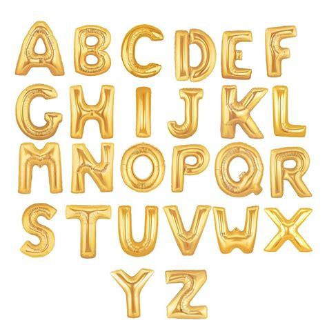Alphabet Balloon balloons specialty balloons alphabet balloons gold