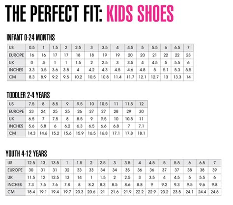 u s toddler and children shoe size chart shoes l