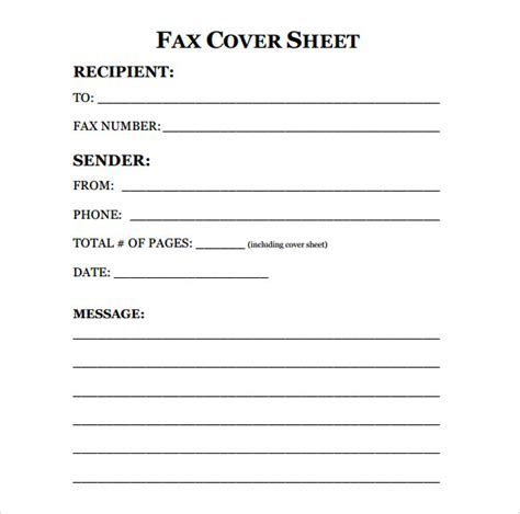 template for fax cover sheet printable fax cover sheet 10 free sles exles