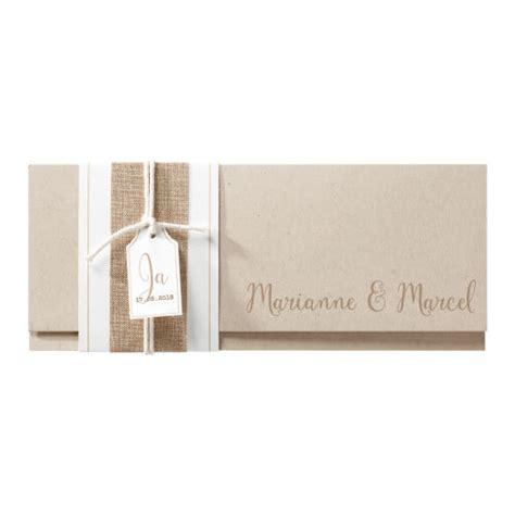Hochzeitseinladungen Altrosa by Hochzeitseinladung Quot Quot Kraftpapier Und