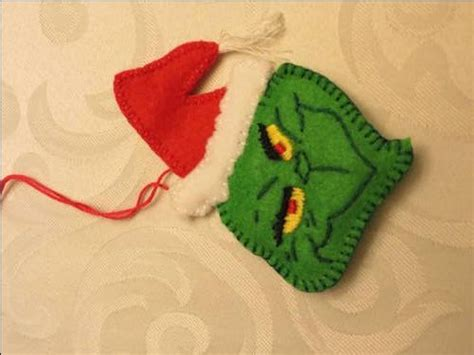 Felt Grinch Pattern | the grinch felt ornament christmas pinterest felt