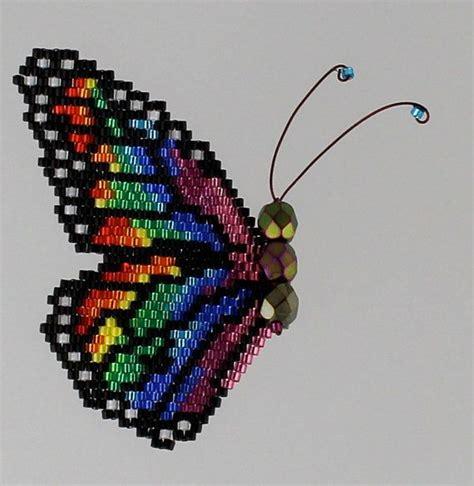 beading brick stitch tutorial rainbow monarch pattern and tutorial stitches patterns