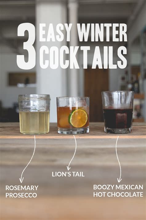 get t done three easy winter cocktail recipes for weddings