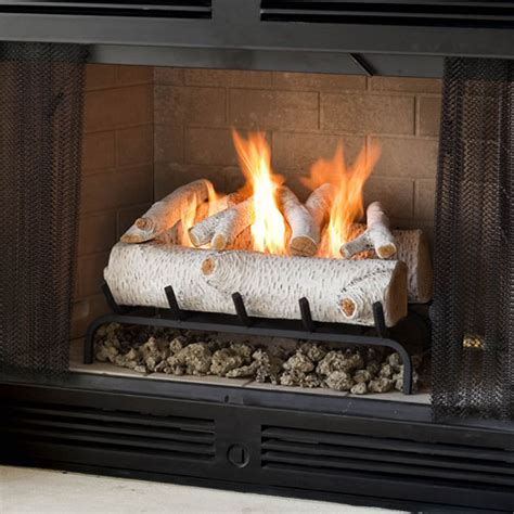 birch gas fireplace logs real gel 24 quot birch log set 2609b