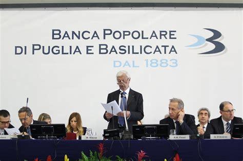 Banca Ppb by Banca Popolare Di Puglia E Basilicata Approvato Il