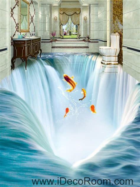 Ohome Pajangan 3d Poly Dress In Blue Decor Ev Sp 3914 B waterfall fish jumping 00034 floor decals 3d wallpaper wall mural stic idecoroom