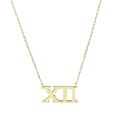 Numeral Pendant Necklace moon and lola metal numeral necklace