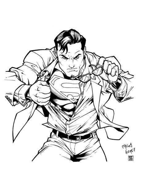 dibujos de superman para colorear manualidades a raudales