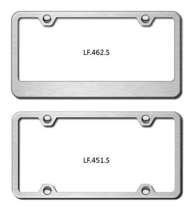 Frame Lf 2187 Pg brushed license plate frames plain license plate frames