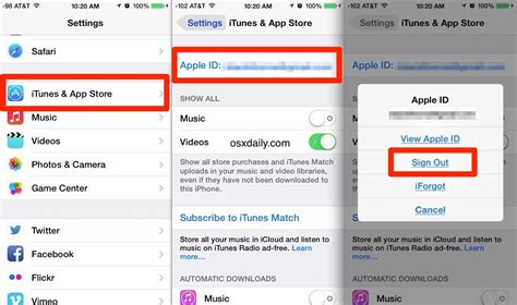 how to change the apple id on iphone ipod touch
