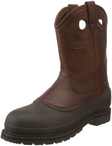 mud boots boot boot mens mud 12 pull on steel toe work boot in brown for
