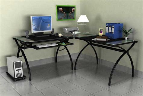 Corner Desk Top Top Glass Corner Desk All Home Ideas And Decor Glass Corner Desk Ideas