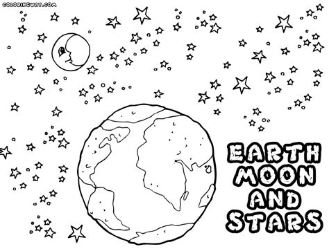 moon and star coloring pages how to color solar system