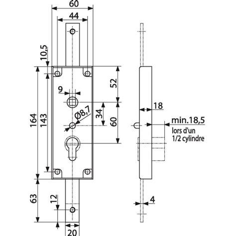 Mecanisme Fermeture Porte Garage Basculante by Serrure Verticale Pour Porte Basculante Zingu 233 En Applique