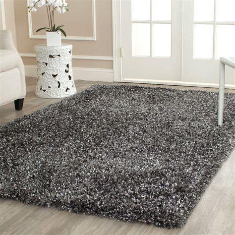 10 X 14 Charcoal White Gray Rug safavieh malibu shag charcoal 10 ft x 14 ft area rug