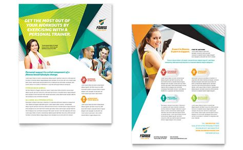 Indesign Vorlagen Free Fitness Trainer Datasheet Template Design