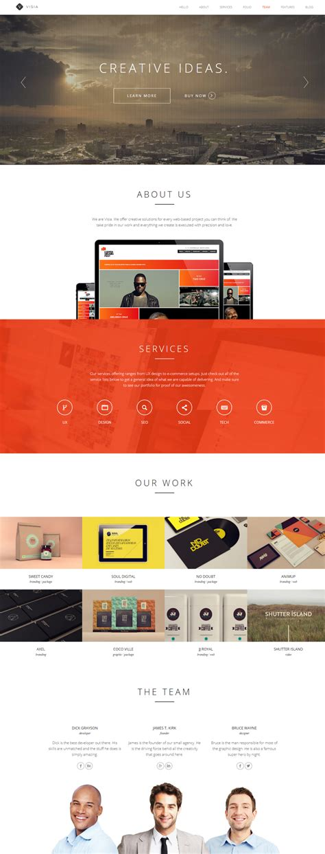 wordpress themes free unique visia a premium creative wordpress theme free download