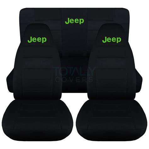 jeep yj rear seat cover jeep wrangler yj tj jk 1987 2017 black seat covers w logo
