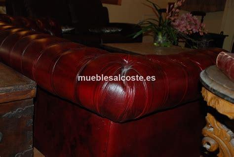 sofa chester segunda mano sof 225 chester de tres plazas de piel granate cod 17218