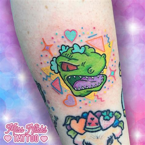 reptar tattoo top 20 rugrats tattoos littered with garbage