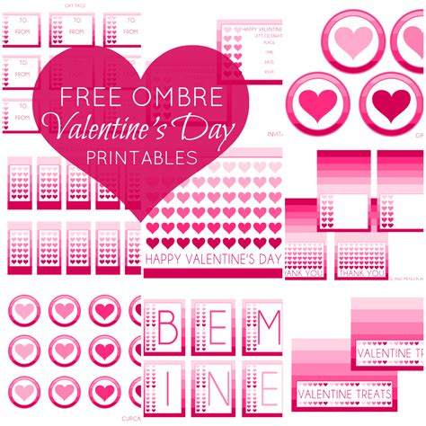 free valentine s day party printables from printabelle catch my party