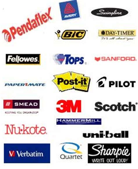 Office Supplies Names Office Product Office Product Logos