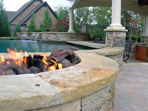 pool fire pit outdoor pool screen porch deck pinterest