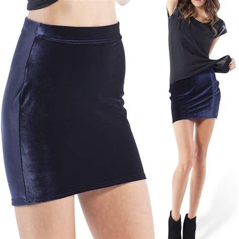 2015 fashion winter fall velvet navy blue skirt mini skirt