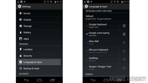 android language setting android customization choosing a default keyboard and changing its settings so you can stay