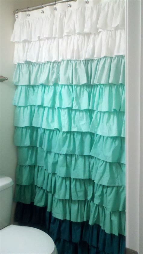 Ruffled Window Curtains Ruffle Shower Curtain College And Pinterest Window Shower Window And Blue