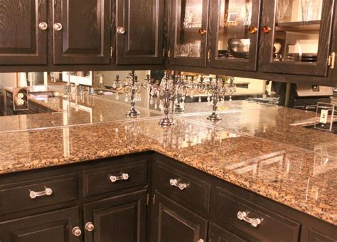 Mirror Backsplash Kitchen Mirror Backsplash To Open Up Kitchen It Will Look As If There Is Another Room Cabinets