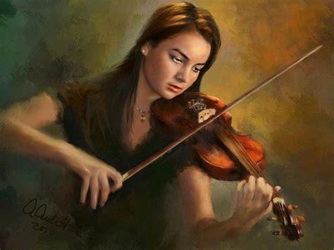 karina kiel tutorial abstract painting people girl playing violin for luna